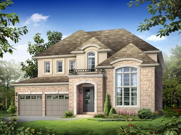The Powell w\ finished basement new home model plan at the Victoria Highlands by Rosehaven Homes in Mount Albert