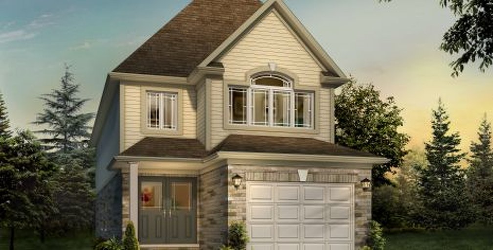 Jackson A floor plan at River's Edge by Fusion Homes in Guelph, Ontario