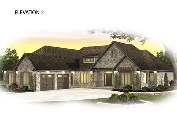 The Churchill new home model plan at the Usshers Creek by Granite Homes in Ariss