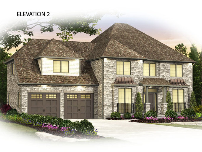 Wellington floor plan at Usshers Creek by Granite Homes in Ariss, Ontario