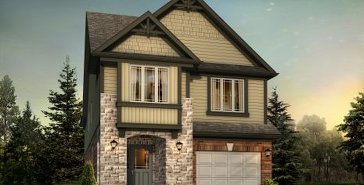 The Carlisle B new home model plan at the Chillico Run by Fusion Homes in Guelph