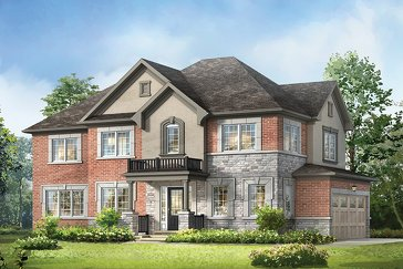 The Lucan Corner new home model plan at the Hawthorne South Village by Mattamy Homes in Milton